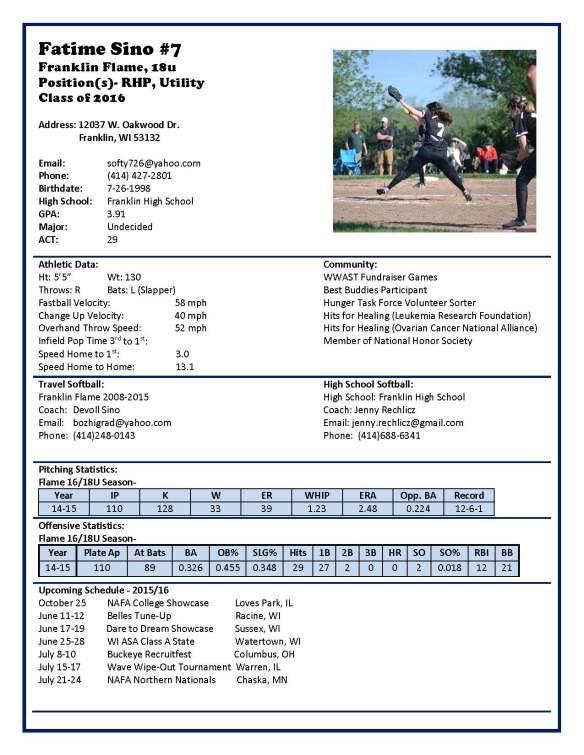 Fatime Profile (18U-2016)